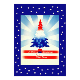 Patriotic Christmas Welcome Home Party Invitation at Zazzle