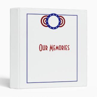 Patriotic Circle of Stars Memorial Day Vinyl Binder