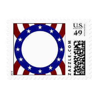Patriotic Circle of Stars Memorial Day Stamp
