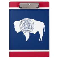 Patriotic Clipboard with flag of Wyoming, USA