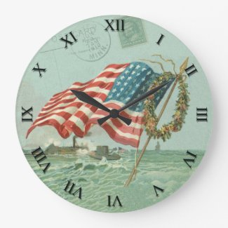 Patriotic Clock - Flag and Honor