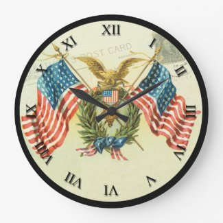 Patriotic Clock - Freedom