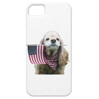 Patriotic Cocker Spaniel iPhone SE/5/5s Case