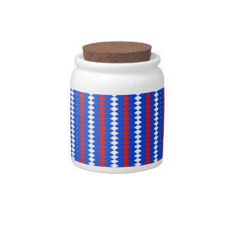 Patriotic Colors Candy Jar