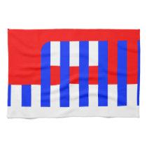Patriotic Comb Kitchen Towel