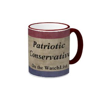Patriotic Conservative on the Watchlist Ringer Mug
