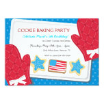 Patriotic Cookie Baking Birthday Party Invitations