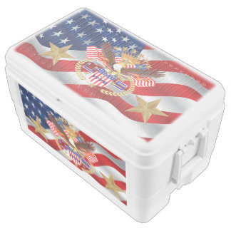 Patriotic Cooler Duo Deco 48 quart cooler