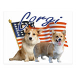 Patriotic Corgi Apparel & Gifts Post Card
