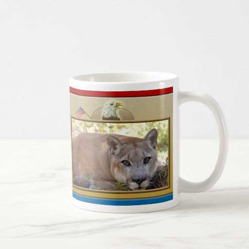 patriotic--cougar-008 classic white coffee mug