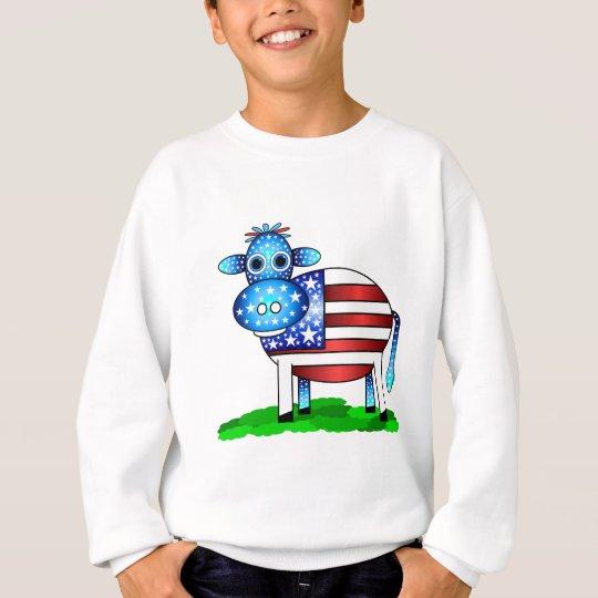 patriotic cow sweatshirt