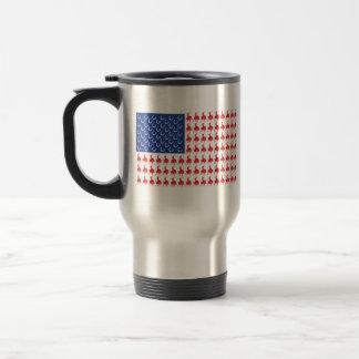 Patriotic Cowboy on a Horse Travel Mug