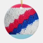 Patriotic Crochet Christmas Ornament