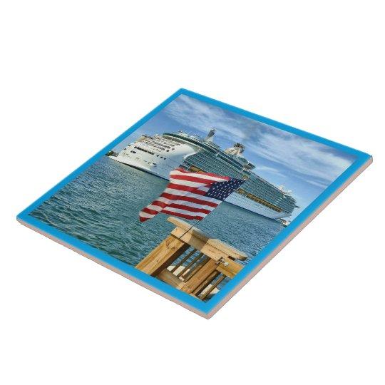 Patriotic Cruise Sailaway Tile