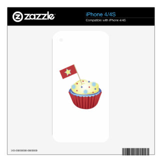 Patriotic Cupcake Decals For The iPhone 4S