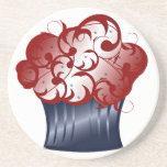 Patriotic Cupcake Memorial Day Coasters