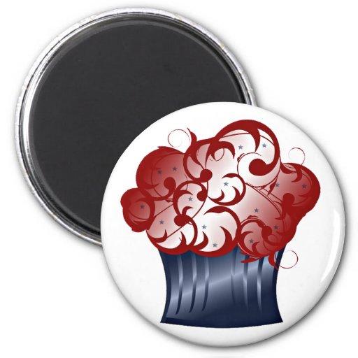 Patriotic Cupcake Refrigerator Magnets
