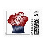 Patriotic Cupcake Stamp