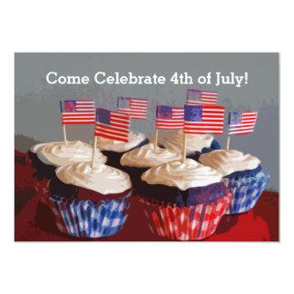 Patriotic Cupcakes Invitation