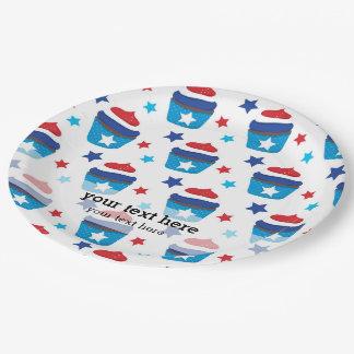 Patriotic cupcakes paper plate