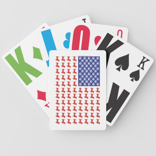 Patriotic Dachshund Doxie Bicycle Playing Cards