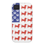 Patriotic Dachshund Doxie Case-Mate iPhone 4 Case