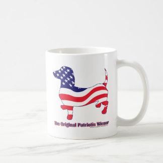 Patriotic Dachshund - Doxie Classic White Coffee Mug
