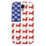 Patriotic Dachshund Doxie Galaxy S4 Cases