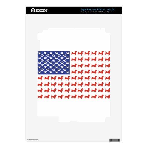 Patriotic Dachshund Doxie iPad 3 Skin