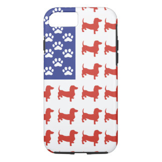 Patriotic Dachshund Doxie iPhone 7 Case