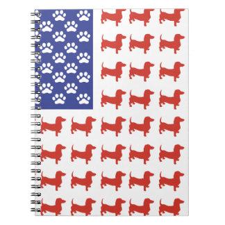 Patriotic Dachshund Doxie Notebook