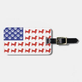Patriotic Dachshund Doxie Travel Bag Tags