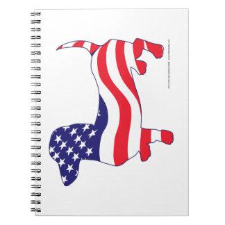 Patriotic Dachshund Notebook