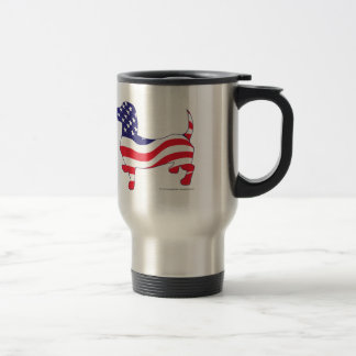 Patriotic Dachshund Travel Mug
