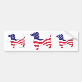 Patriotic Dachshund / Wiener Bumper Sticker