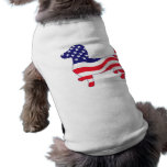 Patriotic Dachshund / Wiener Pet Tee Shirt