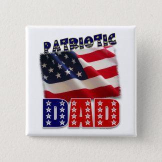Patriotic Dad American Design Button