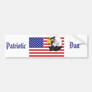 Patriotic Dad/Father's Day Car Bumper Sticker