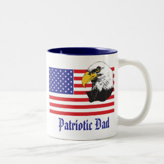 Patriotic Dad/Father's Day Two-Tone Coffee Mug