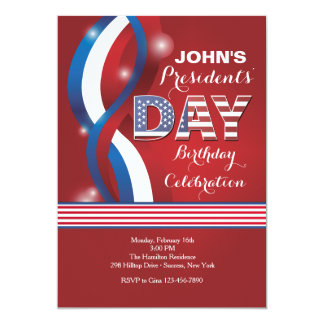 Patriotic Day Party Invitation