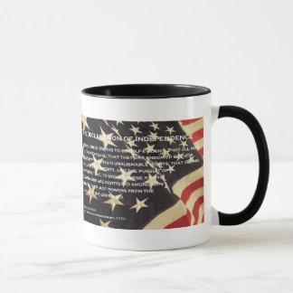 "Patriotic ""Declaration of Independence"" Coffee Mug"