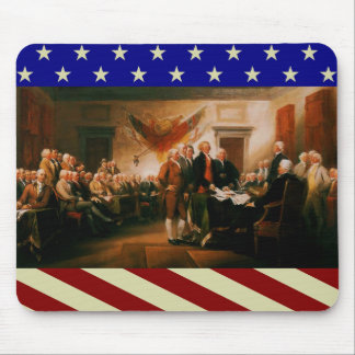 Patriotic Declaration of Independence Mouse Pad