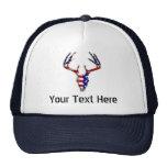 Patriotic Deer Hunting skull Trucker Hat