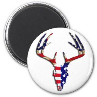 Patriotic Deer Skull Magnet