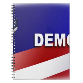 Patriotic Democrat Symbol Spiral Notebooks