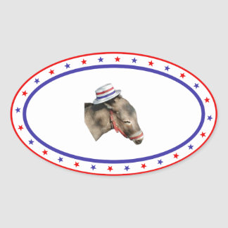 Patriotic Democratic Donkey Sticker