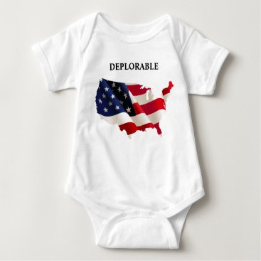 USA Themed Patriotic Deplorable Baby Jersey Bodysuit