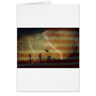 Patriotic Desert Storm Card