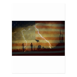 Patriotic Desert Storm Postcard
