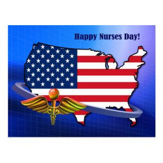 Patriotic Design Nurses Day Custom Postcards